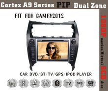 Fit for Toyota camry 2012 (USA version) cortex A9 1080P BT TV GPS IPOD car audio player with gps