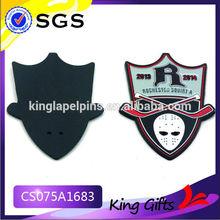 enamel plate 2014 brass emblem/lapel pin pin button badge materials
