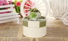 natural design ribbon wedding favor box in china