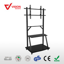 VMST38 F06 Economy Glass And Metal LCD movable tv stand