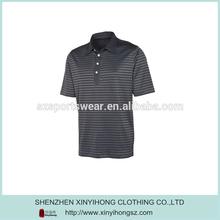 Self Fabric Collar Eco-friendly Cotton Men Stripe Polo Shirt T-Shirt