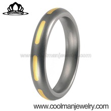 unique jewelry men's ring 316L stainless steel jewelry 14k gold plated wedding ring