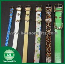 2015 HouSon Wholesale soft customized printed dog cat pet collar dog leash