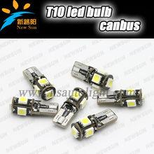 Super bright 100lm 5 SMD 5050 led bulbs AC 12V T10 led auto lamp bulbs for cars