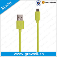 New gadgets 2014 color usb to micro usb cable for sync and charing wholesale