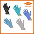 guantes de nitrilo desechables sin polvo