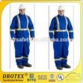 Azul royal 100% de algodón retardante de llama sobretodo para todo propósito industrial tela uniforme militar