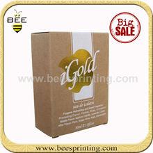 kraft wine glass packing box with sponge foam insert, kraft box for oliver oil packing