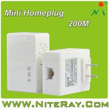 Home network 200mbps powerline communication ethernet adaptors