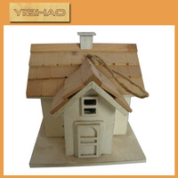 Eco-friendly FSC Hanging Wooden Bird Cage,artificial bird cage