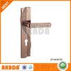 Modern zinc alloy door handle on plate used wood exterior doors