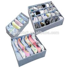 CC005 Charcoal with zipper bamboo custom clothing storage box, odor storage box