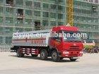 China JAW 8x4 milk transport trailer truck cheap milk tri axle tanker trailer sale