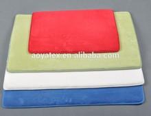 Good absorbtion microfiber coral fleece memory foam bath mat