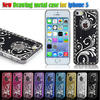 Luxury diamond bling phone cases for iphone5/5S Metal cover