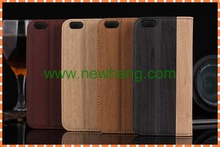 for iphone 5 card slot wood leather case