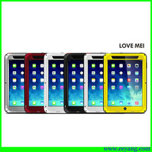 love mei powerful waterproof case for ipad air with gorilla glass screen protector