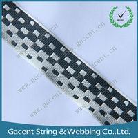 high strength custom logo woven jacquard polyester webbing strap