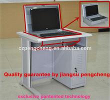 providing compact lab computer desk
