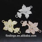 SJ3136 Flower zircon micro pave connector, wholesale cz jewelry, micro pave jewellery