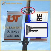 electronic pole advertasing flag clamp