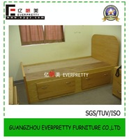 Beds Furniture Manufacture MDF Bed Design for Sale/Wooden Wall Single Bed Picture