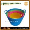 Plastic Floor-cleaning colorful buckets holiday halloween kids plastic bucket flexible tubtrug household water buckets