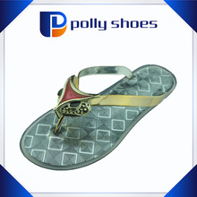 2014 sexy flat heel pretty ladies sandals plastic