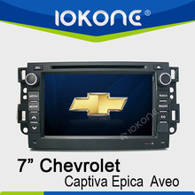 "factory 7"" HD Touch screen double din car gps dvd for chevrolet captiva with TMC, camera, mic, dvb-t"