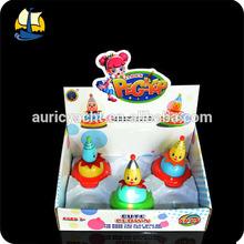 kid light up spinning top musical clown toys