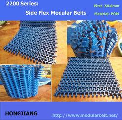 H2200 Plastic Modular Side Flex Belt for Spiral Conveyor, food and beverage service equipment
