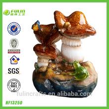 Imitation Pottery Mushroom Tabletop Fountain