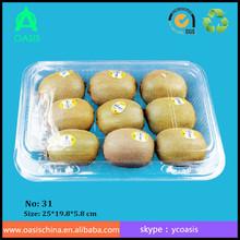 Fruit packing boxes/ custom plastic fruit box/ disposable clamshell plastic 9pcs kiwi fruit packaging