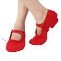 negro y rojo de color rosa suave suela de los zapatos de baile con sanar para danza del vientre de la práctica