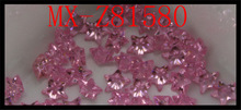 Five Star cubic zirconia AAA CZ manufacturer 6*6mm pink zircon