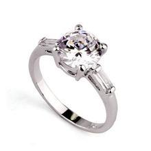 Allencoco fashion jewelry eight sides cut diamond wedding rings
