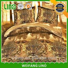 Animal Design reactive print Leopard animal 4pc bedding set 3D MEN Quilt/Duvet cover bedsheet sets cotton king queen bed linen s
