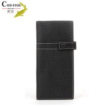Quality guarantee 100% cowhide wallet clutch frames fish zipper coin purse