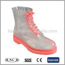 usa low price pink transparent boot lady rain
