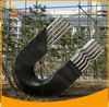 Abstract Figurative Sculpture Magnet Stainless Steel Sculpture Garden Abstract Metal Sculpture