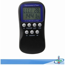 300C Digital Display LCD Food Thermometer Timer Cooking Kitchen BBQ Probe Meat