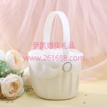 Round Rhinestone Wedding Flower Girl Boy Basket For Wedding Ceremony Free Shipping New Arrival