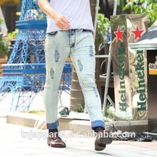 Fashion styles stretch men jeans slim fit ,five pocket men jeans pants,inside blue coating scratch jeans for wholesales MDS00576