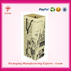 Top design high quality paper wine carrier with glasses