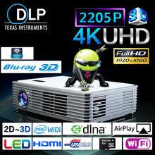 2205P Ultra HD Projector / WiFi-Display Projector / Blu-ray 3D HD LED DLP Projector
