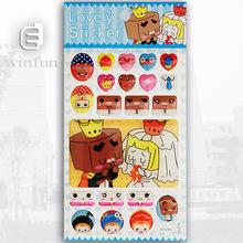 3D cartoon mobile phone sticker