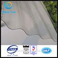 policarbonato transparente de plástico corrugado folha de cobertura