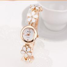 2014 White Color Flower Watch Ladies Dress Watch Bracelet Quartz Watch,Vogue Bangle Wrist Watch,50pcs/lot