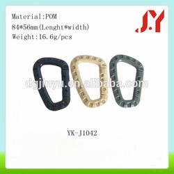2014 Hot sale Plastic flat carabiner,plastiC clip hook for bag