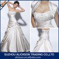 temping bordado micangas trabalho corpete plissado lateral do casamento vestido de renda com bolero